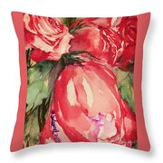 Ma's Roses 4 Throw Pillow