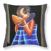 Masaai Kid Throw Pillow