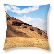 Masada Mountaintop Fortress Throw Pillow