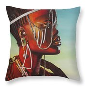 Masai Throw Pillow