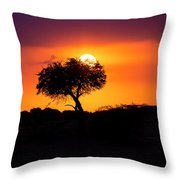 Masai Mara Sunrise Throw Pillow