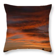Masai Mara Sunset Throw Pillow