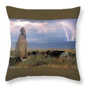 Masaii Cattle Throw Pillow