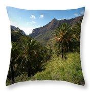 Masca Valley And Parque Rural De Teno 2 Throw Pillow