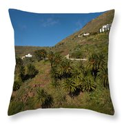 Masca Valley And Parque Rural De Teno 3 Throw Pillow