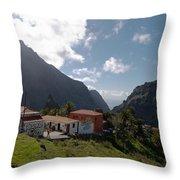 Masca Valley And Parque Rural De Teno 4 Throw Pillow