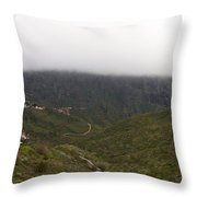 Masca Valley And Parque Rural De Teno 6 Throw Pillow