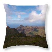 Masca Valley And Parque Rural De Teno Throw Pillow