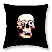 Mascara Craneo Throw Pillow