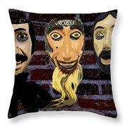 Mascaras 1 Throw Pillow