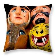 Mascaras 4 Throw Pillow