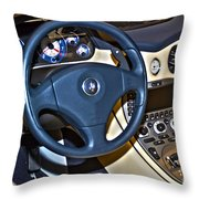 Maserati Interior Throw Pillow