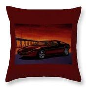 Maserati Merak 1972 Painting Throw Pillow
