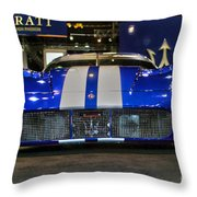 Maserati Racer Throw Pillow