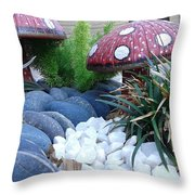 Mashrooms Throw Pillow