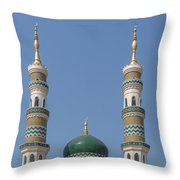 Masjid Darul-ibadah Dome And Minarets Dthcb0240 Throw Pillow