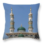 Masjid Darul-ibadah Domes And Minarets Dthcb0239 Throw Pillow