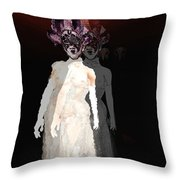 Mask-02 Throw Pillow by Theda Tammas