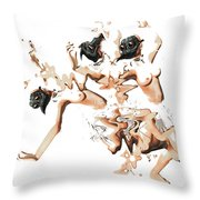 Mask-05 Throw Pillow by Theda Tammas