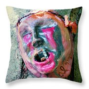 Mask Attached To Trunk 1 Throw Pillow
