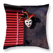 Mask By Window Throw Pillow