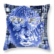 Mask Of The Great Lady Throw Pillow