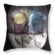 Mask Of The Moon Throw Pillow