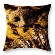 Mask Of Theatre Throw Pillow