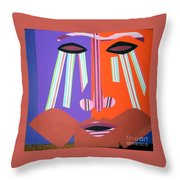 Mask With Streaming Eyes Throw Pillow