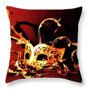 Masked Emotions Throw Pillow