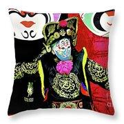Masked Magician Throw Pillow