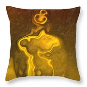 Masked Man Throw Pillow