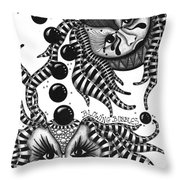 Masks Blowing Bubbles Throw Pillow