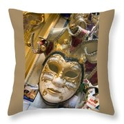Masks For Sale - Venice, Italy Throw Pillow