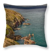 Mason Crane Wreck 2 Throw Pillow