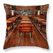 Mason Street School Throw Pillow