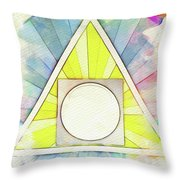 Masonic Symbolism - Alchemy Throw Pillow