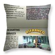 Masonry Contractor Services Throw Pillow