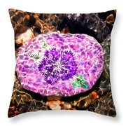 Mason's Purple Flower Throw Pillow
