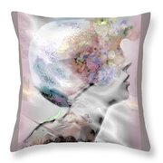Masque Eclatant Throw Pillow