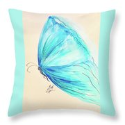 Masquerade Butterfly  Throw Pillow