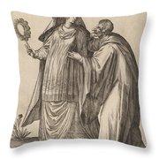 Masquerades Throw Pillow