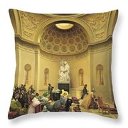 Mass In The Expiatory Chapel Throw Pillow by Lancelot Theodore Turpin de Crisse
