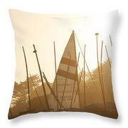 Mass Of Ships Throw Pillow