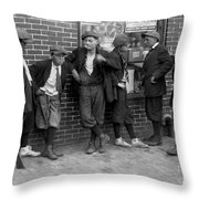 Massachusetts: Gang, C1916 Throw Pillow