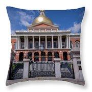 5- Massachusetts State House Eckfoto Boston Freedom Trail Throw Pillow