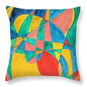 Massage In Abstract Word Art Throw Pillow