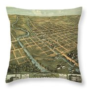 Massillon Ohio 1870 Throw Pillow