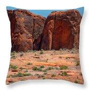 Massive Sandstone Cliffs Valley Of Fire Throw Pillow