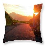 Massive Sunrice Throw Pillow